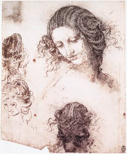 Leonardo da Vinci Head of Leda